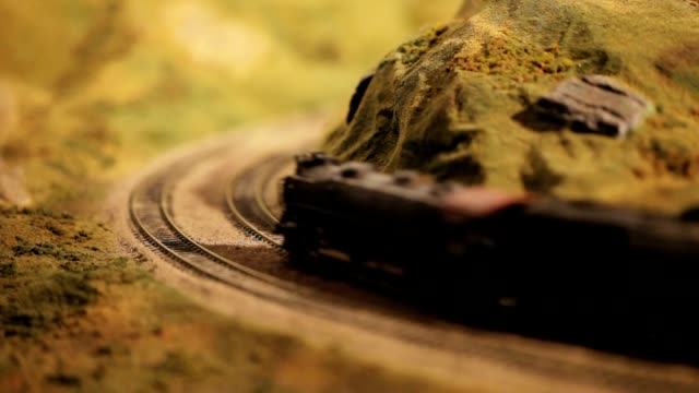 Model Train Rounding a Curve