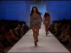 A model walks the runway at ViX Swimwear 2009 collection fashion show during MercedesBenz Fashion Week Swim at the Raleigh Hotel on July 21 2008 in...