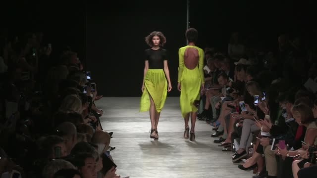Models and designer Adam Andrascik on the runway for the Guy Laroche Ready to Wear Fashion Show Spring Summer 2017 in Paris on September 28 2016 in...