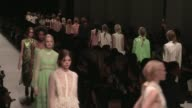 Models and designer Alessandro Dell'Acqua on the runway for the Rochas Spring Summer 2016 Fashion Show in Paris Wednesday 30 September 2015 Paris...