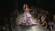 Models and designer on the runway for the Marchesa Ready to Wear Spring Summer 2018 Fashion Show in New York City Wednesday September 13 2017 New...