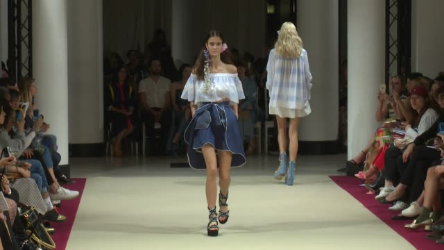 Models and designer walk the runway for the Alexis Mabille Ready to Wear Spring Summer 2018 Fashion Show in Paris Friday September 29 2017 Paris...