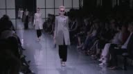 Models and legendary designer Giorgio Armani on the runway for the Giorgio Armani Prive Haute Couture Fall Winter 2016 Fashion show in Paris Tuesday...