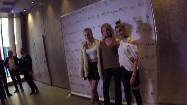 Models Josephine Skriver Romee Strijd and Taylor Hill attend supermodel Behati Prinsloo celebrates the launch of Behati Juicy Couture Black Label at...
