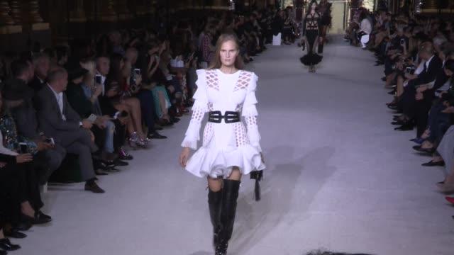 Models Natalia Vodianova Natasha Poly Elsa Hosk Cindy Bruna Martha Hunt Alessandra Ambrosio Designer Olivier Rousteing and more walk the runway for...