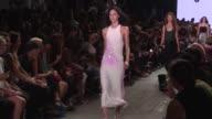 Models walk the runway at Alexander Wang September 2016 New York Fashion Week at Pier 94 on September 10 2016 in New York City