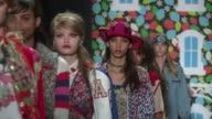 Models walk the runway at Anna Sui September 2016 New York Fashion Week at The Arc Skylight at Moynihan Station on September 14 2016 in New York City