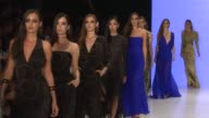 Models walk the runway at the Atil Kutoglu show during the MercedesBenz Istanbul Fashion Week at Zorlu Center on September 14 2017 in Istanbul Turkey