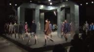Models walk the runway during Alexander Wang MercedesBenz Fashion Week Fall 2014 at Brooklyn Navy Yard on February 8 2014 in Brooklyn New York