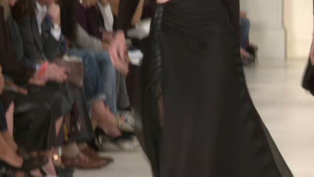 Models walk the runway during Ralph Lauren Runway Spring 2015 MercedesBenz Fashion Week at Skylight Clarkson SQ on September 11 2014 in New York City