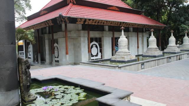 Modern buddhist monastery in Mendut, Indonesia