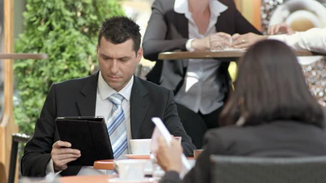 HD: Modern Businessman On A Coffee Break