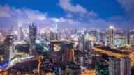 T/L WS HA ZO Modern City at Night / Shanghai, China