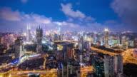 T/L WS HA ZI Modern City at Night / Shanghai, China