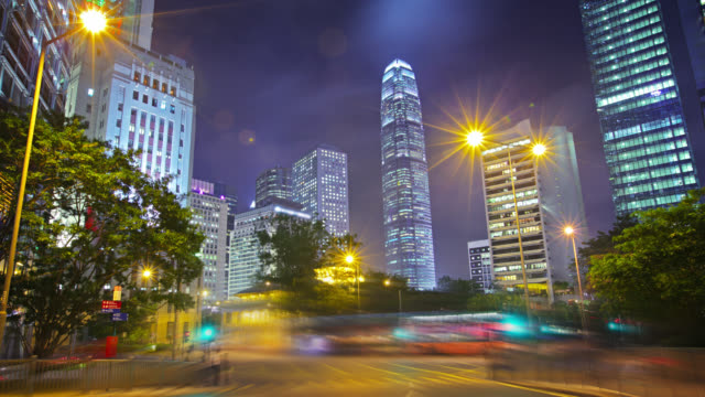 Modern stad, Hong Kong business och finance district