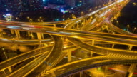 modern city transportation time-lapse