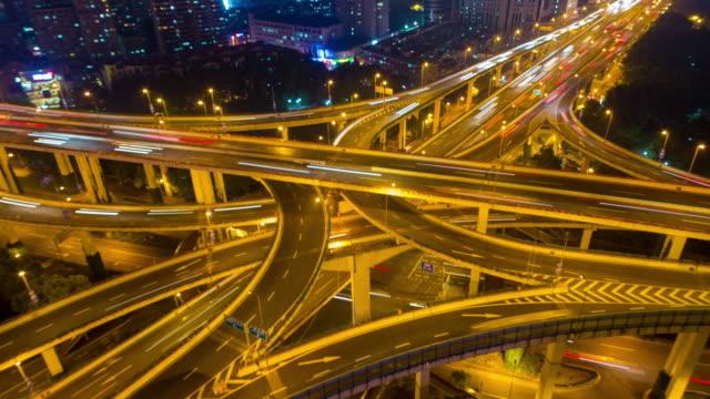 Moderne Stadt Verkehr Zeitraffer