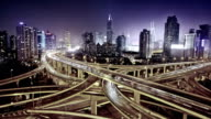 modern city with highway interchange -