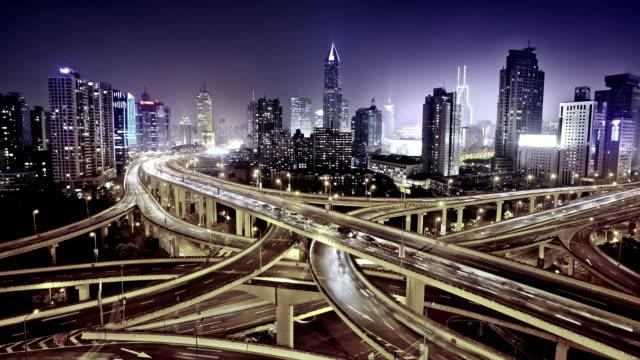 modern city with highway interchange -
