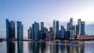 modern cityscape of singapore from day to night,timelapse