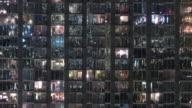 Modern condo building night time lapse