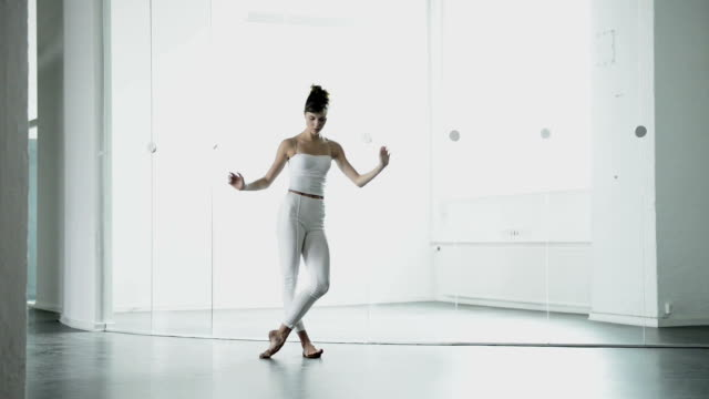Modern dance performed by ballet dancer