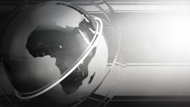 Modern Earth Spin Background Loop - Black & White HD