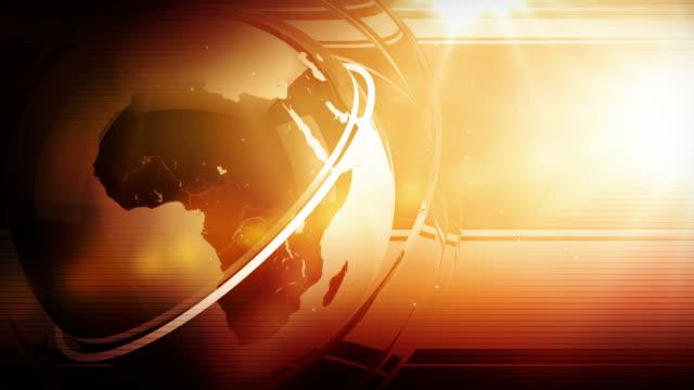 Modern Earth Spin Background Loop - Red Orange Glow HD