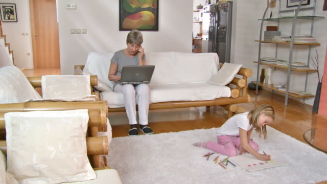 HD DOLLY: Modern Grandmother And Playful Granddaughter