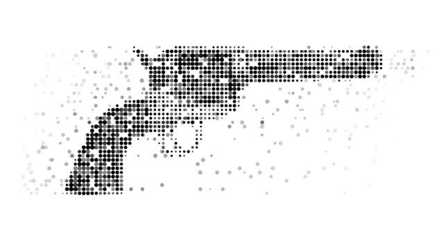 GUN : modern halftone style (LOOP)