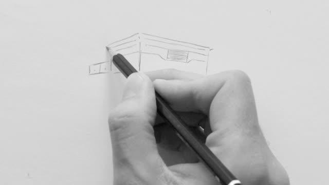 Modernes Haus mit Briefkasten