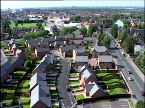 Modern housing estate Liverpool