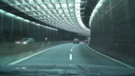 Modern hypnotic road tunnel
