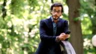 Modern man in park