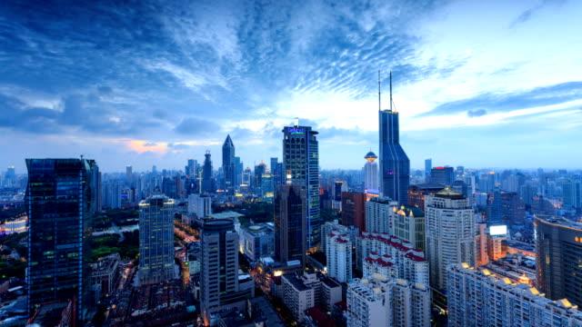modern skyline,cityscape and traffic of  shanghai ,timelapse.
