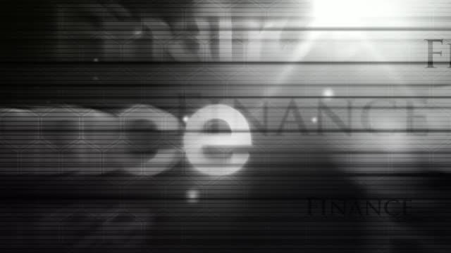 Modernes Text Hintergrund Loop-Finanzen Black & Weiß (FUll HD