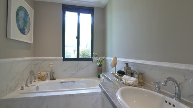 modern toilet interior 4k