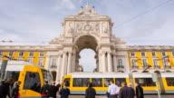 MS Modern tram at Praça do Comércio square