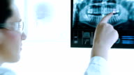Modern X-Ray image. Dentist reserch.