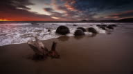 SLOW MOTION: Moeraki Boulders at Sunrise
