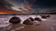 SLOW MOTION: Moeraki Boulders New Zealand