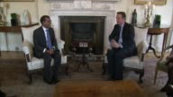 Mohamed Nasheed granted a month for medical treatment in UK R23011601 Various shots David Cameron MP sat chatting with Nasheed with Amal Clooney sat...