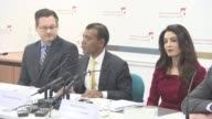 INTERVIEW Mohamed Nasheed on his dream team legal team at Press Conference with President Nasheed of the Maldives his Lawyers Jared Genser Amal...