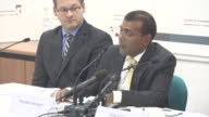 INTERVIEW Mohamed Nasheed reaction Cherie Blair comments on his story running for office again at to Press Conference with President Nasheed of the...