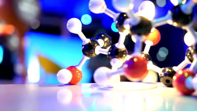 DNA molecule model in biology lab test