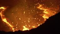 Molten lava bubbles inside Erta Ale in the Danakil Depression of Ethiopia. Available in HD.