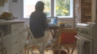 Mom working from home 4K