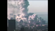 Moments after the collapse of the North Tower at the World Trade Center on 9/11