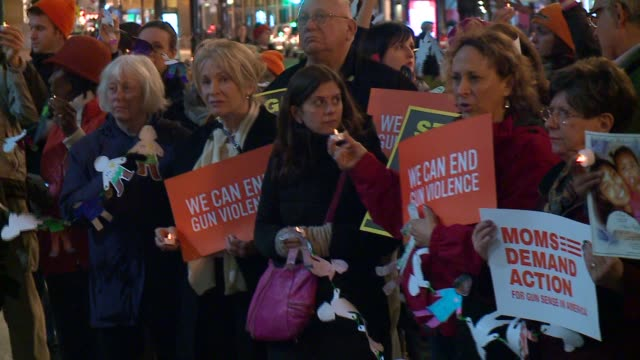 WGN 'Moms Demand Action' AntiGun Violence Group Gathers For Candlelight Vigil in Chicago on December 11 2015
