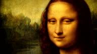 Mona Lisa portrait talking